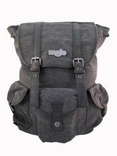 This Mojo Triple Play Black Backpack is made of Canvas with drawstring closures so  you no its ruggid. It has one Main compartment and one secondary compartment on the front of the bag.There are also two Side pockets for any additional storage. This bags classic black design is sure to make it a hit! **Please note: This item is a Choking Hazard, NOT meant for children 3 and under, as choking or entanglement may occur.