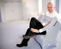 Gaultier at Elle Deco Suite with stripes  Completely-costal.com