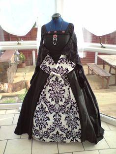 Gothic Black Wedding Dress