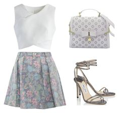 """""""Untitled #139"""" by cocolouise22 ❤ liked on Polyvore featuring Marc by Marc Jacobs, Chicwish, Jimmy Choo and Floralskirts"""