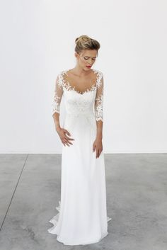 Simple 2nd Wedding Dresses - Wedding Dresses for the Mature Bride Check more at http://svesty.com/simple-2nd-wedding-dresses/