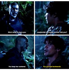 Jaha knows... Jaha knows everything #The100 #Bellarke