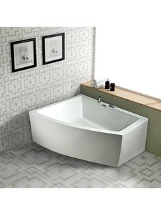 Badekar - Lima 160 - helstøbt badekar