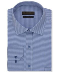 Donald J. Trump Non-Iron Blue Houndstooth Dress Shirt