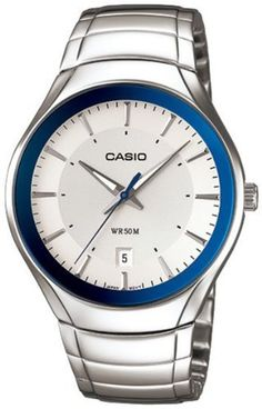 Casio Men's MTP1325D-7A1V Silver Stainless-Steel Quartz Watch with Silver Dial Casio. $37.01. 50 Meters / 165 Feet / 5 ATM Water Resistant. Quartz Movement. 48mm Case Diameter. Mineral Crystal. Save 56%!
