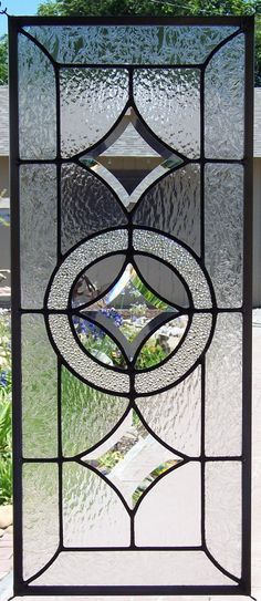 Beveled Stars Stained Glass Window by DebsGlassArt on Etsy, $145.00