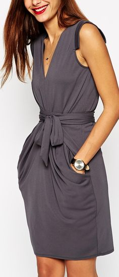 obi wrap dress
