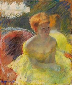 I love Cassatt's use of color and sketchiness in this glorious portrait.