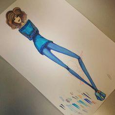 aquarela + marker + lápis de cor - Lou Raulik