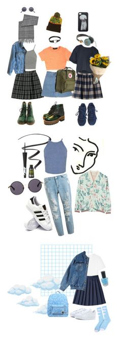 """""""art hoe"""" by katie-niekirk ❤ liked on Polyvore featuring Topshop, STELLA McCARTNEY, NIKE, Dr. Martens, Nana', Chanel, R2, Calvin Klein Jeans, BLACK BROWN 1826 and Monki"""