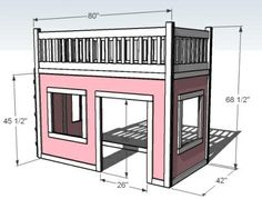 Playhouse loft bed - Click image to find more Design Pinterest pins