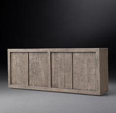 Reclaimed Russian Oak Panel 4-Door Sideboard