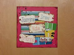 Dorm Suite door decoration. Made with Amy Tangerine's Ready Set Go by American Crafts