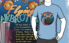 Flying FairBrothers non-alcoholic cocktail drink recipe by Valxart.com by Valxart is available on many styles & colors on shirts, hoodies and Waterproof vinyl stickers that will last 18 months outdoors