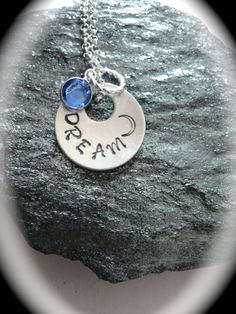 Personalized jewelry necklace dream moon  by MoonHeartStudios