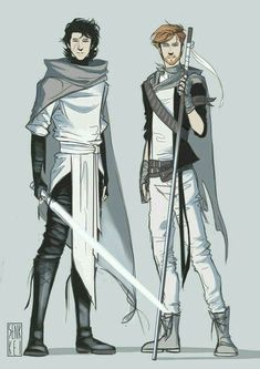 Again, I have no idea what this is but I like it. Fan art-ers are amazing sometimes. << it's Kylo Ren and General Hux, I'm guessing if they were on the light side. Star Wars Episoden, Star Wars Ships, Star Wars Fan Art, Star Wars Characters, Fantasy Characters, Cosplay Star Wars, Star Wars Outfits, Love Stars, Obi Wan