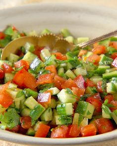 This sounds delicious! Middle-eastern style pico de gallo, but not spicy :) right up my alley