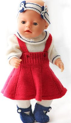 Doll dress knitting patterns - gorgeous celebration dress for you doll