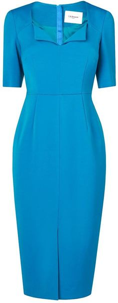 LK Bennett Amy Tailored Blue Dress (similar to the Detroit)