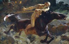 Horseman of the Apocalypse by Ulpiano Checa (1860–1916)