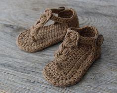 Natural zapatos de bebé zapatos de bebé del por atelierbagatela