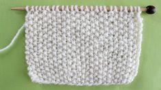 Seed Knit Stitch Pattern Easy for Beginning Knitters by Studio Knit with Video Tutorial #studioknit #knitstitchpattern