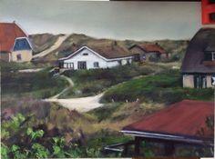 """Vlieland"" (a place where our hearts remain) 2015 oil on board cm Erica Hyatt For sale 80 euros. New Shows, Original Art, Hearts, Paintings, Oil, Fine Art, Landscape, Portrait, Board"