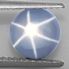 2.29 Cts Natural Lustrous Sharp 6 Rays Unheated Star Sapphire Round Cab 7 mm Gem