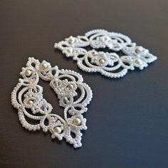 Tatting Earrings, Tatting Jewelry, Lace Earrings, Lace Jewelry, Crochet Earrings, Needle Tatting, Tatting Lace, Earrings Handmade, Handmade Jewelry