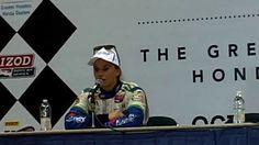 IndyCar: Houston (Race 1) - Simona de Silvestro podium interview