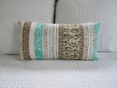 Aviary Stripe Accent Pillow12x22Lumbar Pillow by EMStinson on Etsy, $24.95