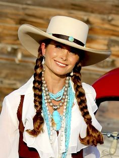 Three Stone Leather Hatband Befitting The Perfect Western Cowgirl Hat Adorned With Her Beautiful