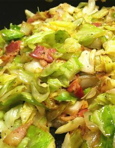 Fried Cabbage with Bacon and Onions                                                                                                                                                      More