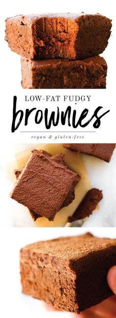 Fudgy Low Fat Vegan Brownies {gluten-free & date-sweetened} The post Low Fat Fudgy Vegan Brownies appeared first on Dessert Park. Low Fat Brownies, Fudgy Vegan Brownies, Vegan Fudge, Date Brownies, Healthy Vegan Dessert, Vegan Treats, Vegan Desserts, Low Fat Desserts, Low Fat Snacks