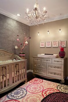Girl's Nursery.  If there was only enough room to set this up for the grand babies !