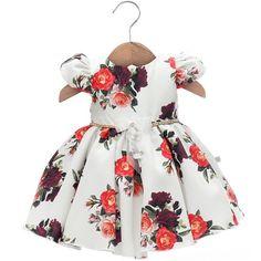 Vestido Patricia Branco Florido - Beth Bebê