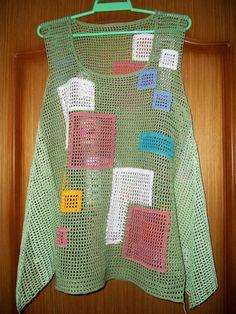 Одноклассники Crochet Blouse, Crochet Poncho, Filet Crochet, Knit Crochet, Crochet Crafts, Crochet Projects, Crochet Humor, Easy Crochet Patterns, Womens Fashion Online