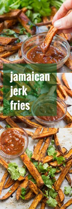These spicy jerk sweet potato fries are baked (not fried!) to a crisp, and…