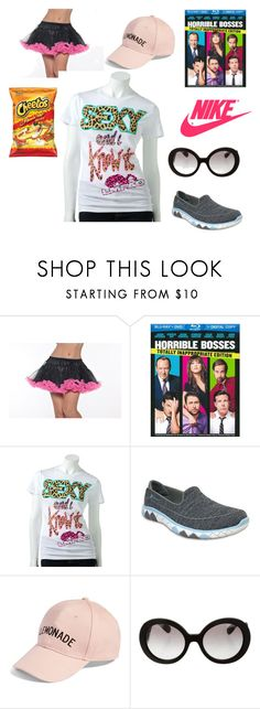 """""""trailer park regular"""" by lauren-paul-sets ❤ liked on Polyvore featuring NIKE, Skechers, Amici Accessories and Prada"""