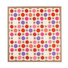 Octagonal Silk scarf (with iconic print by australian artist Florence Broadhurst) ~ Kate Spade