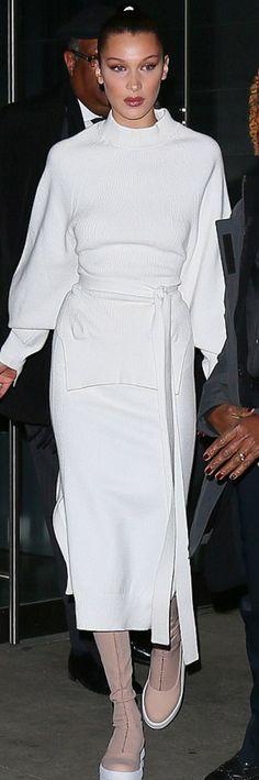Bella Hadid wearing DKNY