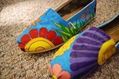 Flowers Custom TOMS Shoes