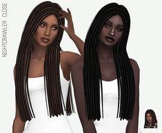 Sims 4 Hairs ~ Miss Paraply: Nightcrawler`s Close hair retextured The Sims 4 Pc, Sims Four, Sims 4 Cas, Sims Cc, Sims 4 Afro Hair, Free Sims 4, Rasta Hair, Play Sims 4, Sims 4 Black Hair