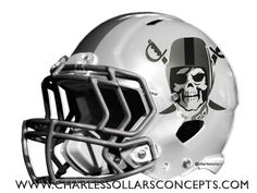 Mock Draft did a bunch of different helmets for each team but in the end only one helmet can be the primary helmet. If you want to see the other helmet ideas just click the link above the team… Oakland Raiders Football, Minnesota Vikings Football, Crimson Tide Football, Alabama Football, Alabama Crimson Tide, College Football Helmets, Nfl Football Helmets, Football Uniforms, Raiders Helmet