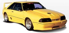 87-93 Mustang DOMINATOR - 10pc Body kit - Fits to LX bumpers only ...
