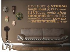 Have hope, be strong Play Hard, Dream Big, Strong, Couch, In This Moment, Furniture, Home Decor, Settee, Decoration Home