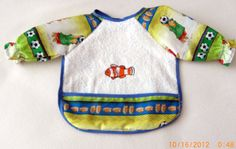 Paddington and Nemo  Child's Bib with sleeves  Free by JillnDee, $15.00