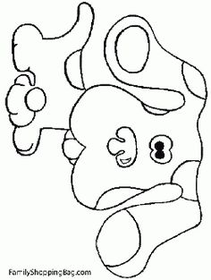 blue dog coloring pages - photo#26