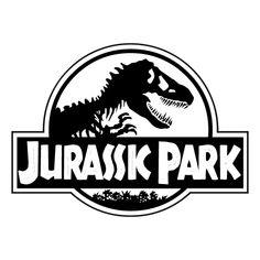 Jurassic Park Logo Black And White Jurassic Park Party, Jurassic Park T Shirt, Jurassic Park 1993, Jurassic Park Tattoo, Jurrassic Park, Birthday Party At Park, Lego Jurassic World, Black And White, Logos