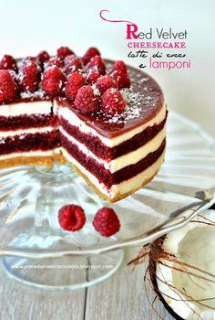PANEDOLCEALCIOCCOLATO: Red Velvet Cheesecake con latte di cocco e lamponi e la Contaminazione nella Contaminazione!